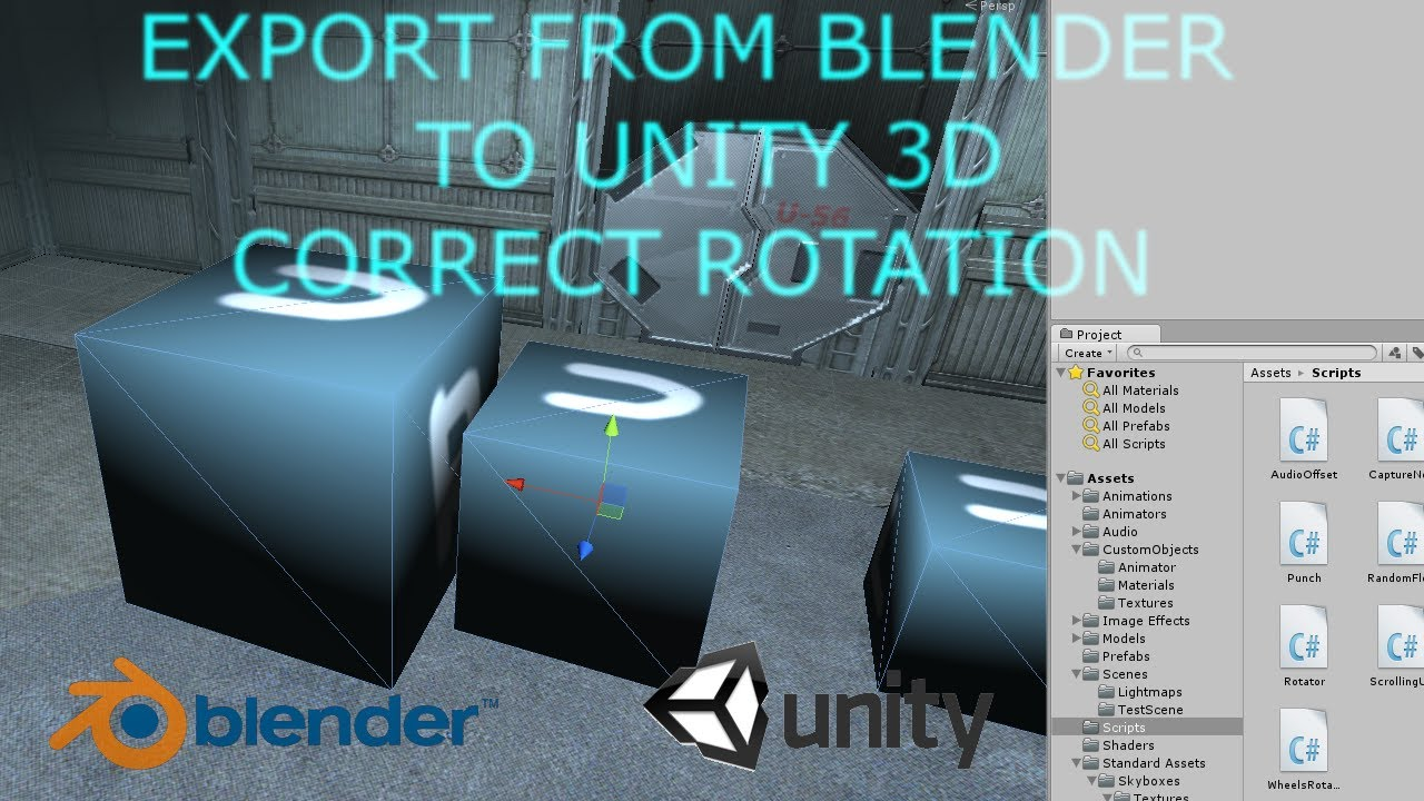 Exporting FBX From Blender To Unity3D With Correct Rotation