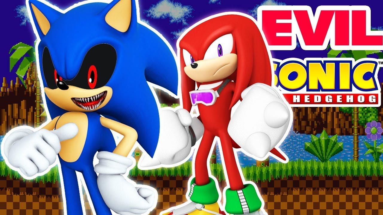 Evil Sonic Vs Knuckles Youtube