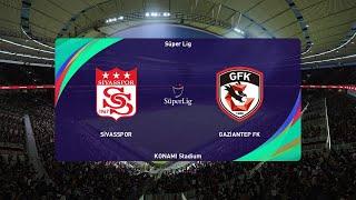 PES 2021   Sivasspor vs Gaziantep FK - Turkey Super Lig   09/01/2021   1080p 60FPS