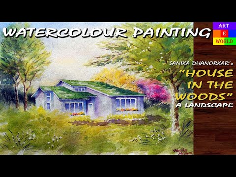24: Watercolour Landscape-6 | Painting | Tutorial Lessons Video | beginners | techniques