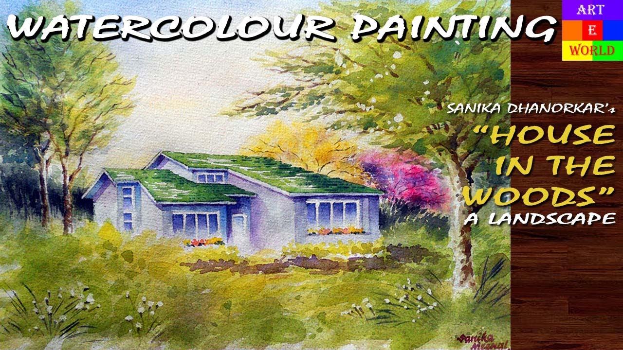24 watercolour landscape 6 painting tutorial lessons for Video tutorial on watercolor painting