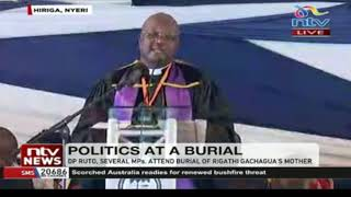 DP Ruto and several politicians attend burial of MP Rigathi Gachagua's mother