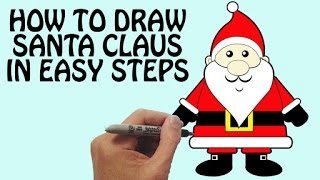 How To Draw Santa Claus in Easy Steps | Festival Drawing For Kids | Basic Drawing Lessons For Kids