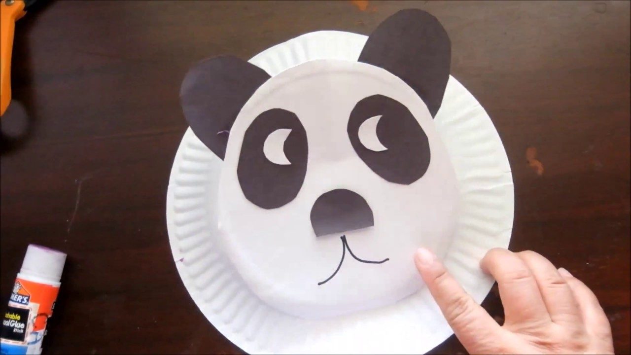 Panda Paper Plate Hat & Panda Paper Plate Hat - YouTube