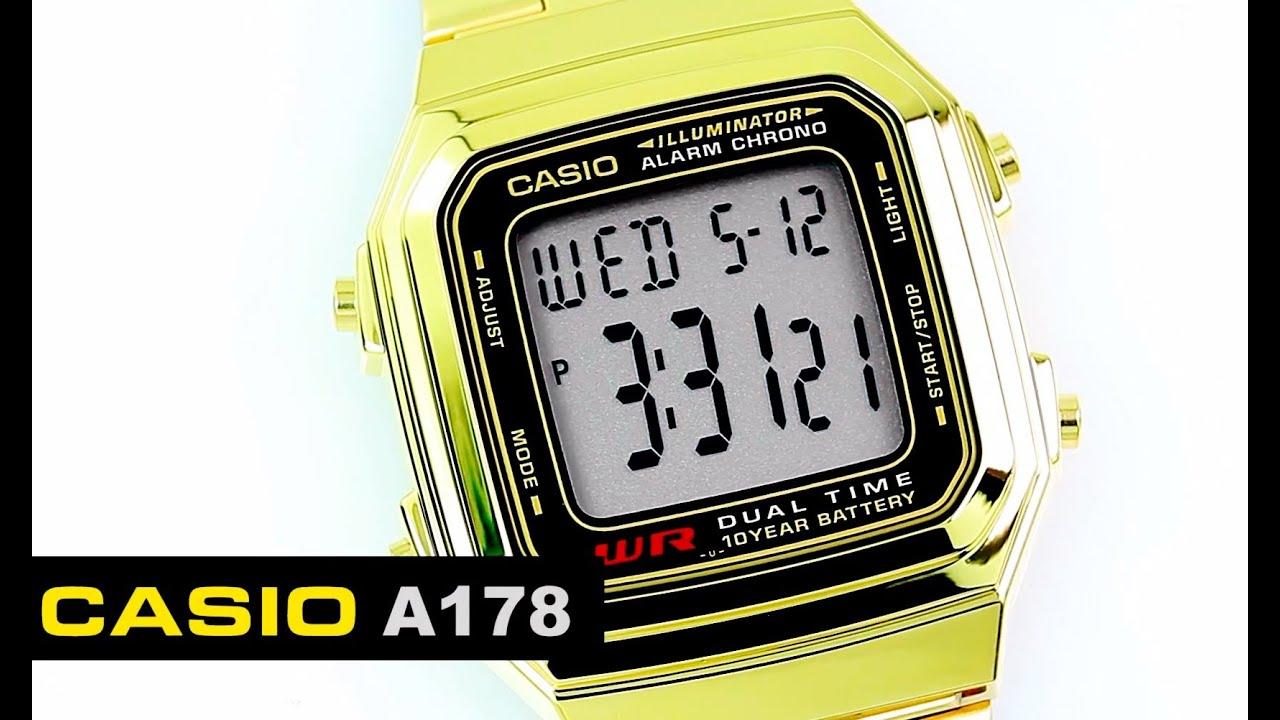 9adafaabdeb7 Reloj Casio Retro A178G Dorado - CompraFacil.mx - YouTube