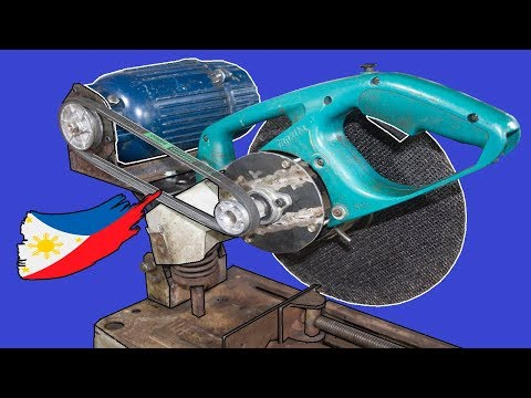 Diy External Motor for Broken Chop Saw