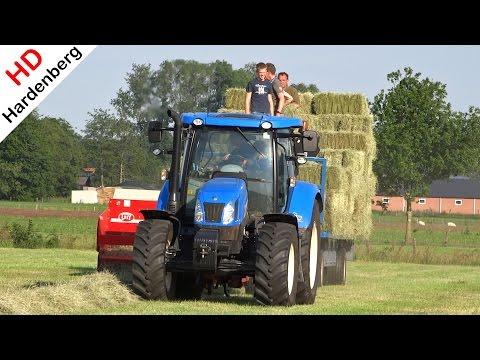 New Holland T6.140 | Welger AP 730 | Pressing Bales | Balen Persen | Uddel | NL | 2015.