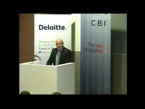 Dr Neil Bentley at the CBI/DECC energy policy event