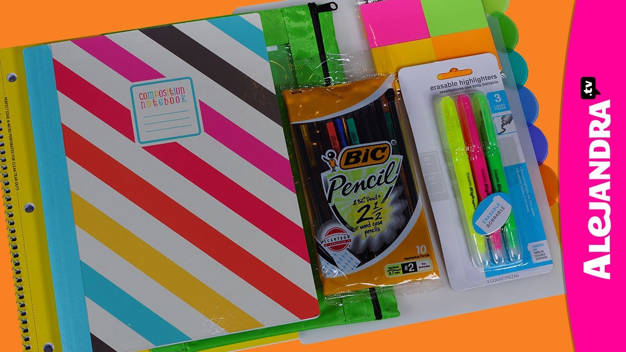 Back To School Supplies Haul 2013 14 Shopping At Walmart Part 2