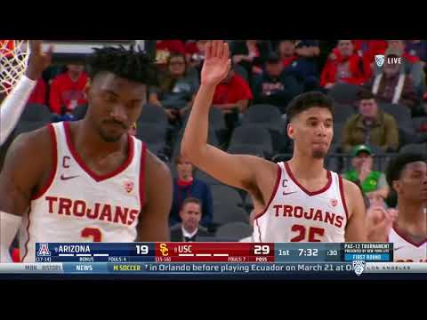Men's Basketball - PAC12 Tournament: USC 78, Arizona 65 - Highlights 03/13/2019