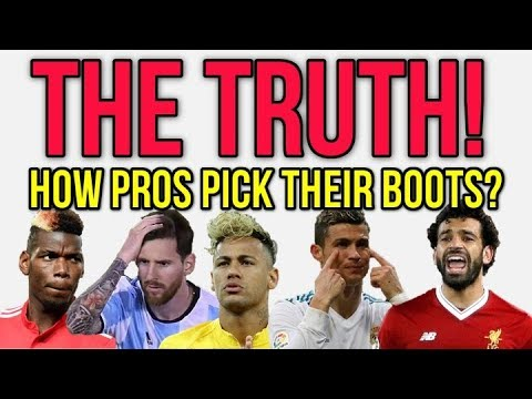 THE TRUTH ABOUT HOW PRO FOOTBALLERS PICK THEIR BOOTS!
