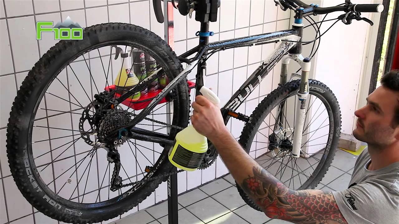 Fahrrad Pflege Anleitung Mit F100 Fahrradreiniger Youtube