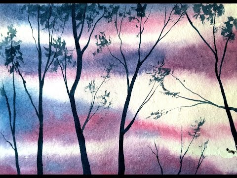 Simple Tree Painting in Watercolor – Paint with David