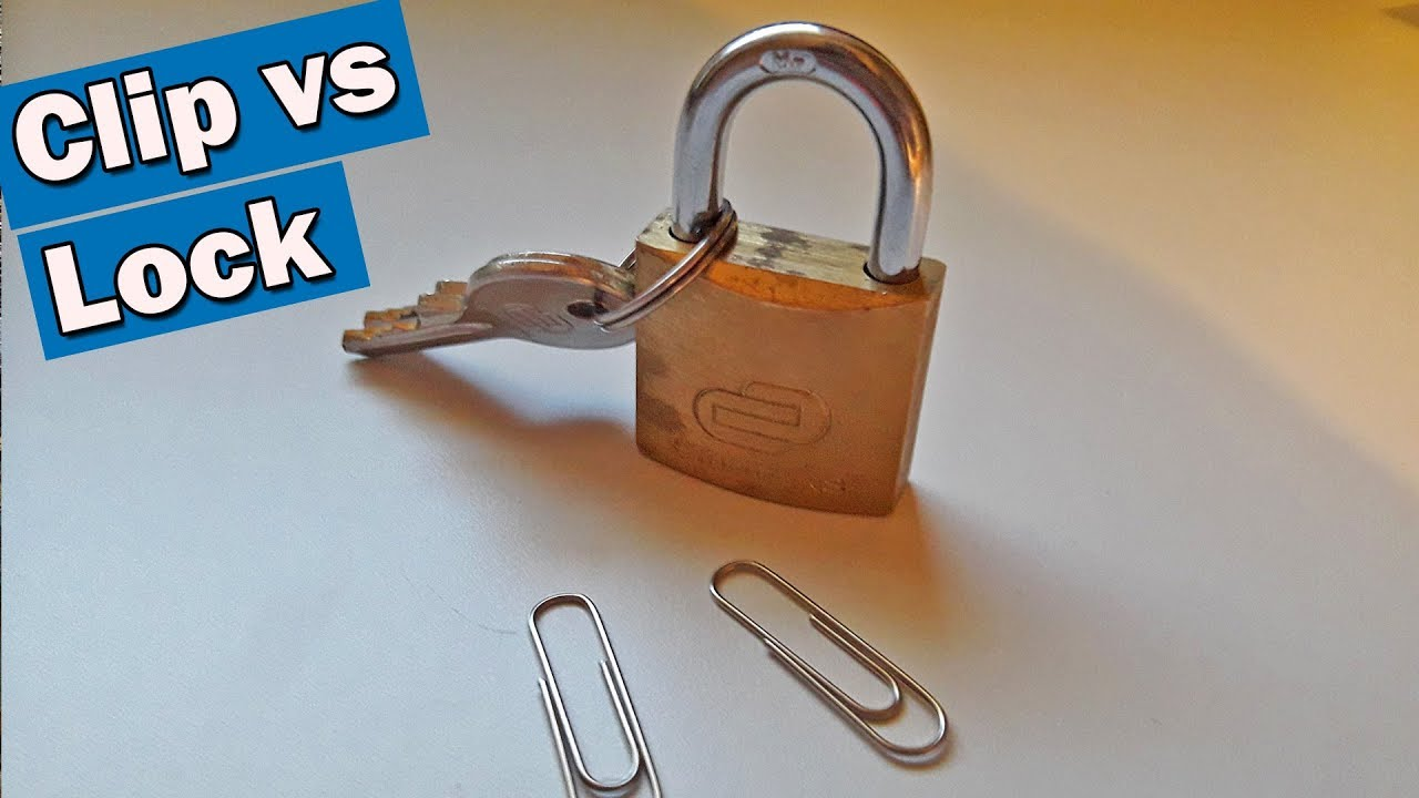 75912803d4df Open a Padlock With One Paperclip, Nothing Else: 7 Steps (with Pictures)