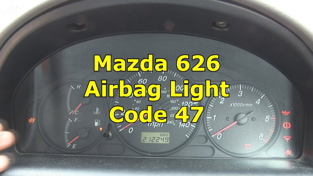 Mazda 626 Airbag light Flashing | Code 47