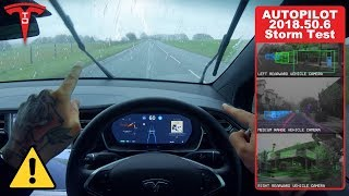 Tesla Autopilot in Heavy Storm Winds & Rain - Will It Work?