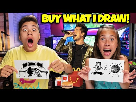 WHATEVER YOU DRAW, I'LL BUY IT CHALLENGE!!! Featuring Panic! At The Disco!