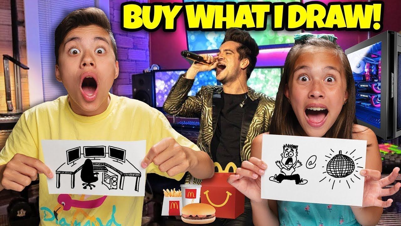 WHATEVER YOU DRAW, ILL BUY IT CHALLENGE!!! Featuring Panic! At The Disco!