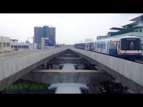 BTS สำโรง (E15) : รถไฟฟ้ามุ่งหน้าสู่สถานีปู่เจ้า( E16)[ จุด Pocket Track ]