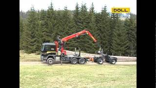 DOLL Langholzzug; DOLL long timber trailer combination
