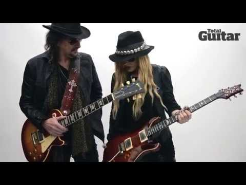 Me And My Guitar interview: Richie Sambora w/ 1959 Gibson Les Paul and Orianthi w/ PRS Custom 22