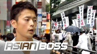 Why Are The Japanese Protesting Against China? | ASIAN BOSS