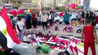 احتفالات بأعلام مصر عقب صلاة عيد الفطر بأكتوبر