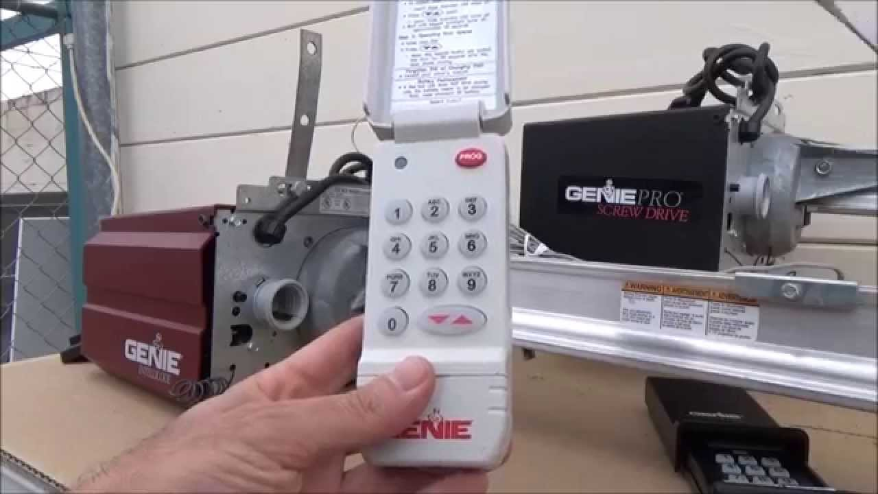 Genie Wireless Keypad ACSD1G Program/Erase Intellicode   YouTube