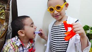 الدكتور حمودي يعالج أسنان مريم!!