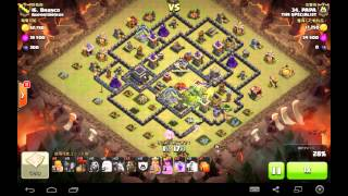 TH9 VS TH9 Queen walk & hybrid 1 Golem  @PAPA