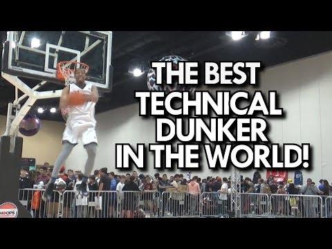 BEST TECHNICAL DUNKER in the WORLD! JONATHAN CLARK'S INSANE DUNKS AT SNEAKERCON