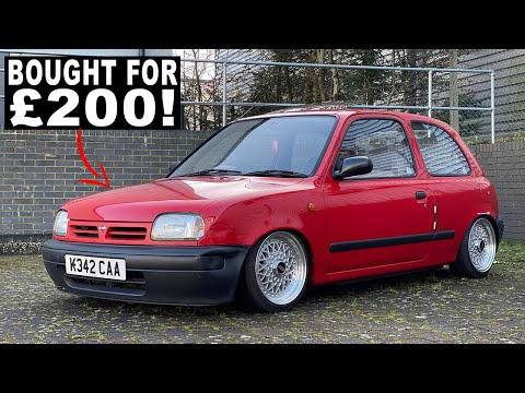 WHY YOUNG DRIVERS SHOULD BUY A NISSAN MICRA | SLAMMED RETRO £200 KEI CAR Review, Costs, Insurance