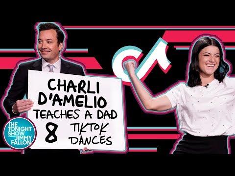 Charli D'Amelio Teaches A Dad 8 TikTok Dances
