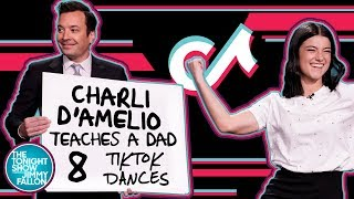 Charli D'Amelio Teaches a Dad 8 TikTok Dances