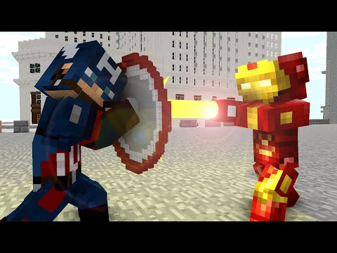 Ironman vs Captain America - Craftronix Minecraft Animation