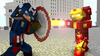 Ironman vs Captain America - Craftronix Minecraft Animation