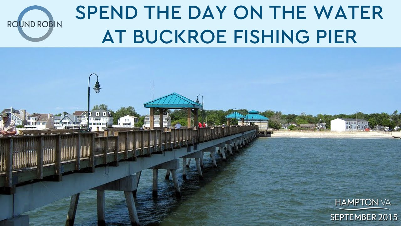 Spend the day on the water at buckroe fishing pier youtube for Va beach fishing