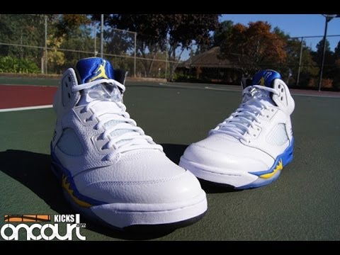 separation shoes 1078b 4590f Air Jordan V (5) Retro  Laney  2013 - YouTube