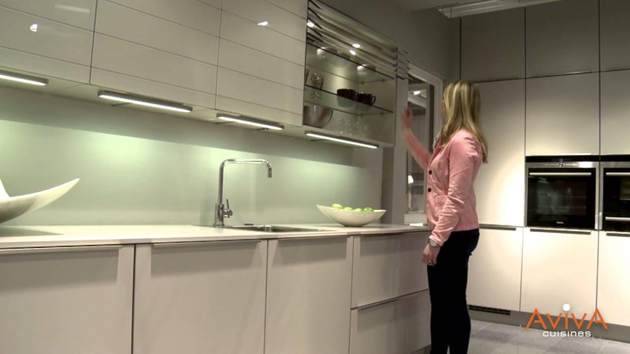 Cuisines AvivA  dcouvrez nos placards lectriques  YouTube