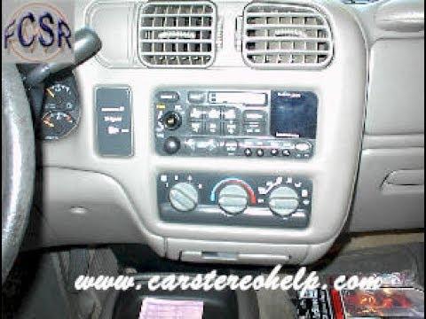 Chevrolet Blazer And S10 Stereo Removal