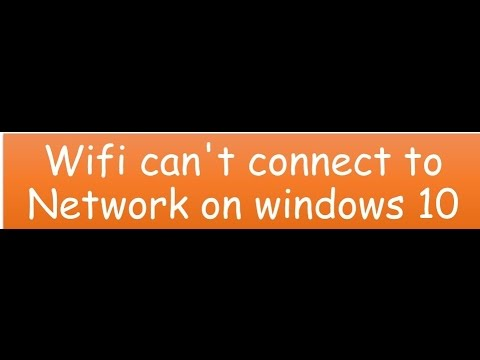how to fix wifi can 39 t connect to this network on windows 10 youtube. Black Bedroom Furniture Sets. Home Design Ideas