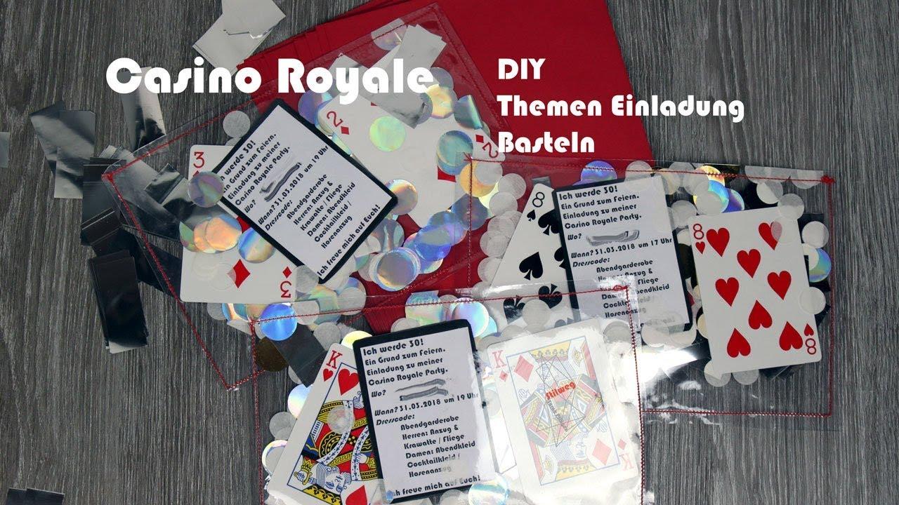 Themen Einladung Basteln Party Thema Casino Royale Youtube