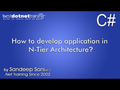 Part 3 - C# Tutorial - How to develop application in N-Tier Architecture?