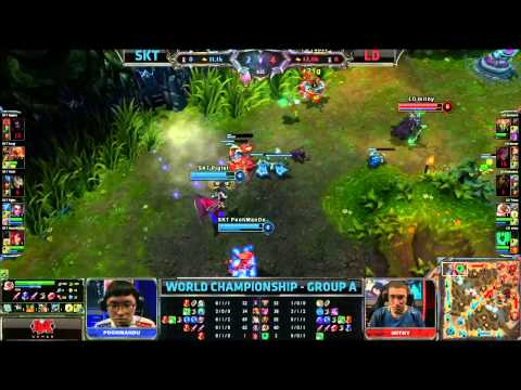 SKT T1 vs LD | SK Telecom T1 vs Lemondogs | Worlds 2013 Group Stage D1 | Full game HD | Faker Ahri