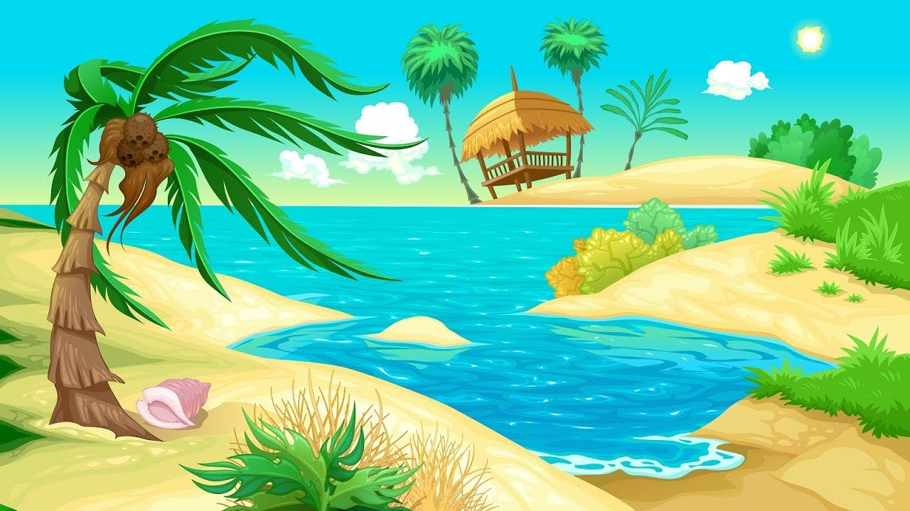 Tropical Island Cartoon: Tropical Music