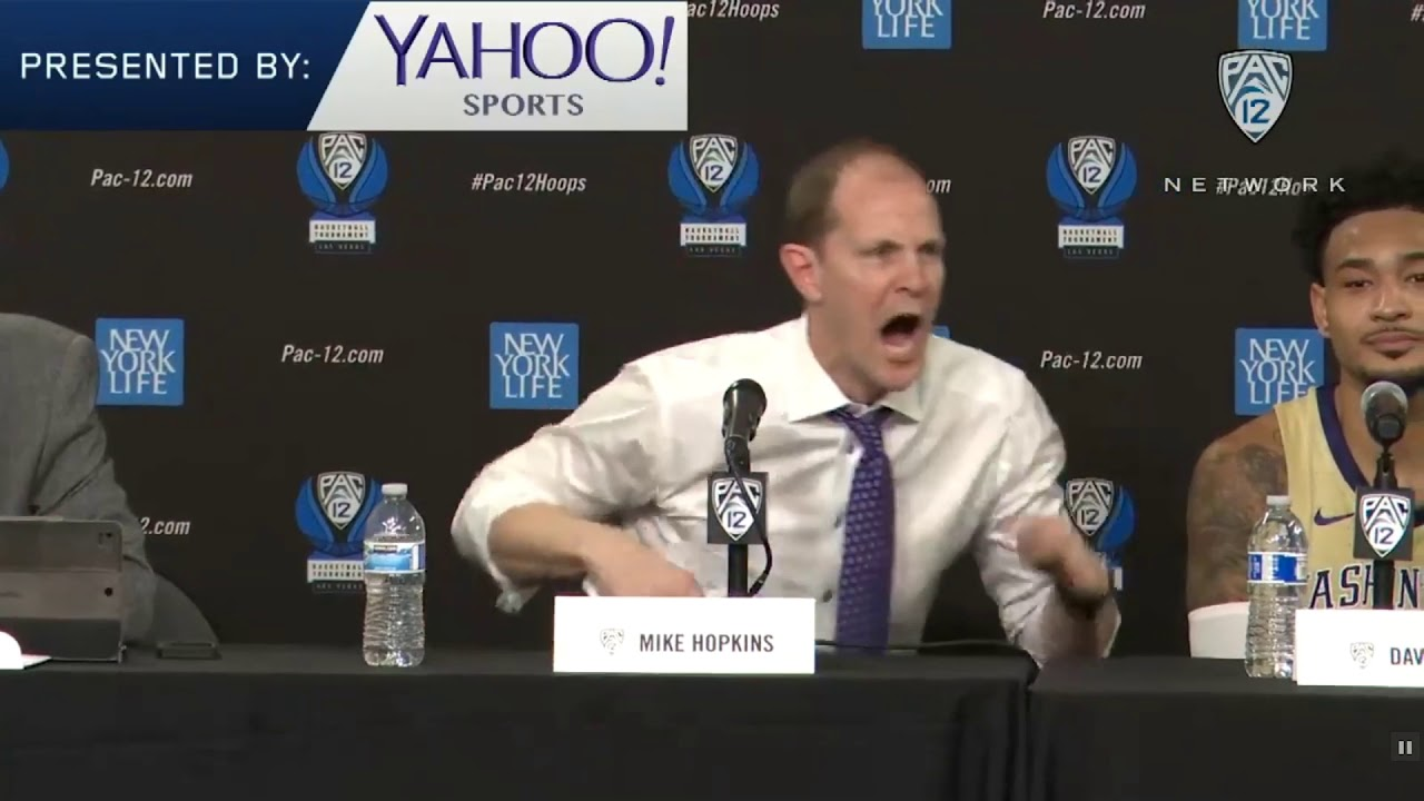 MIke Hopkins Fires Up Press Conference 2019-03-14
