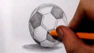 How To Draw a Soccer Ball Football - Real Time Sketch