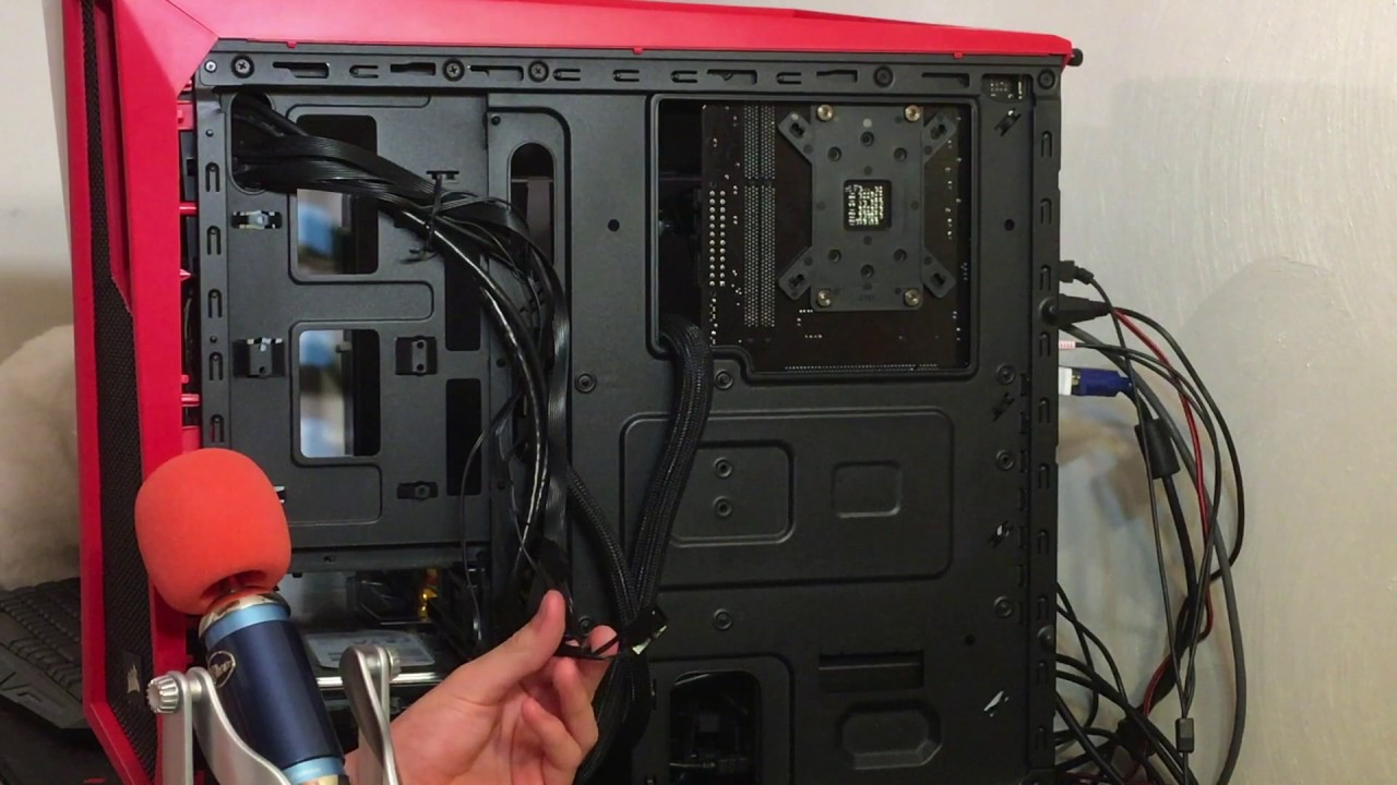 how to connect your fan controller on the Corsair Spec Alpha case