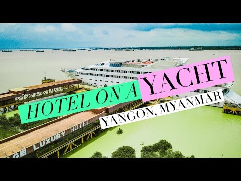Vintage Luxury Yacht Hotel || MOST UNIQUE HOTEL IN YANGON, MYANMAR || TRAVEL VLOG