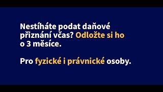 Odklad daňového přiznání za rok 2018 pro právnické i fyzické osoby   Odklad.cz
